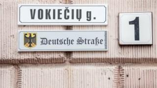 In German street in Vilnius-a street plaque in German